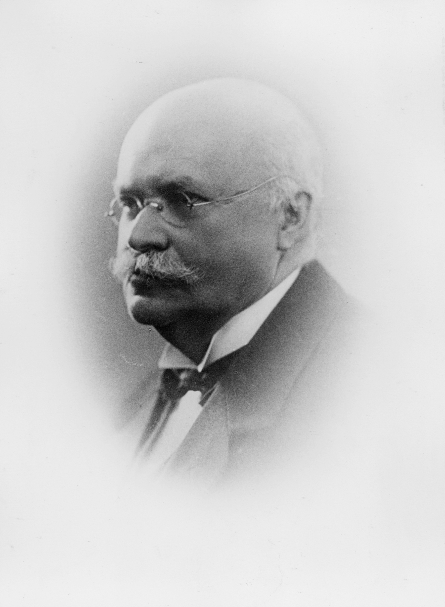portrett, postintendant, Tolnæs Gustav Hagbart