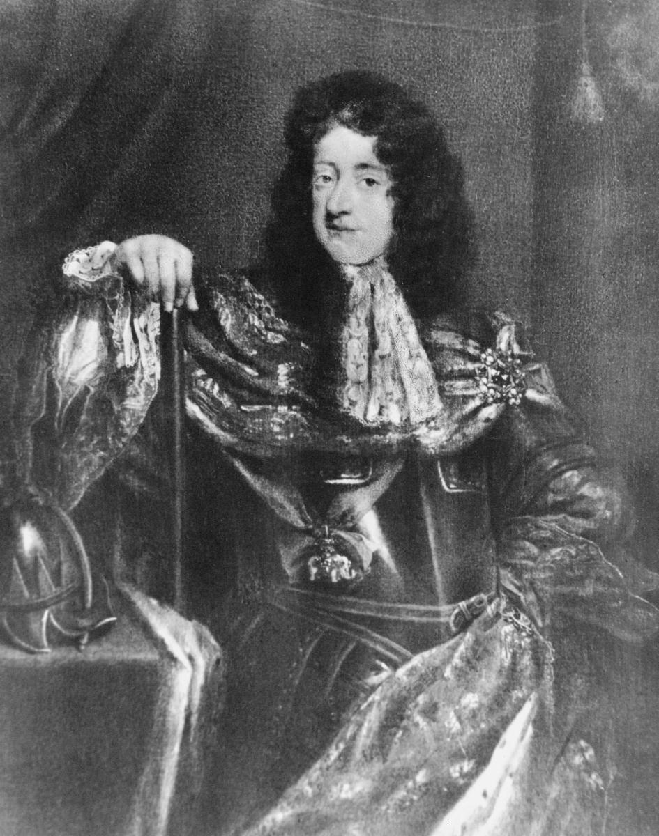 portrett, mann, kong Kristian 5.