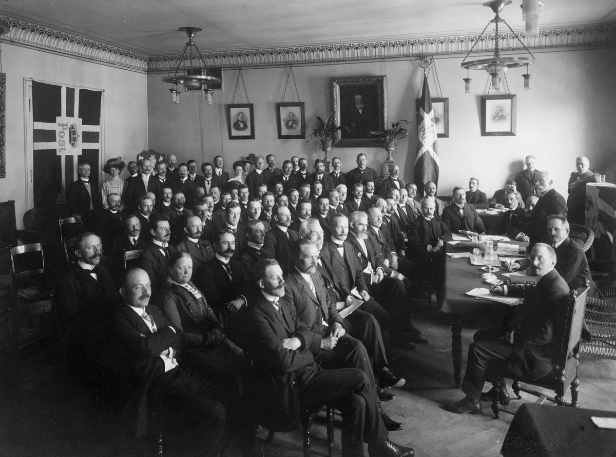 gruppebilde, Det Norske Postmannslag 1910