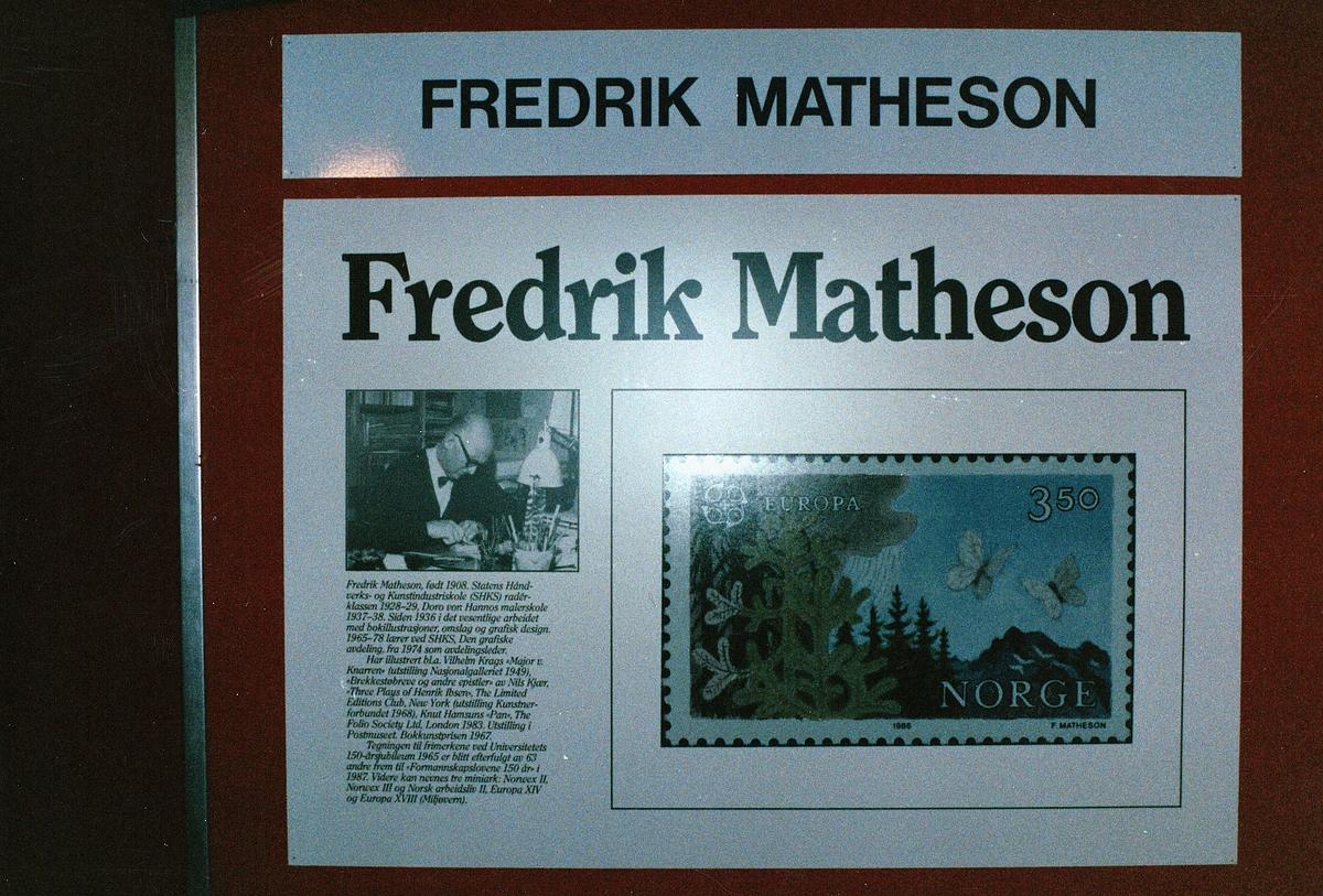 frimerkets dag, Oslo Rådhus, frimerkemotiv av Fredrik Matheson