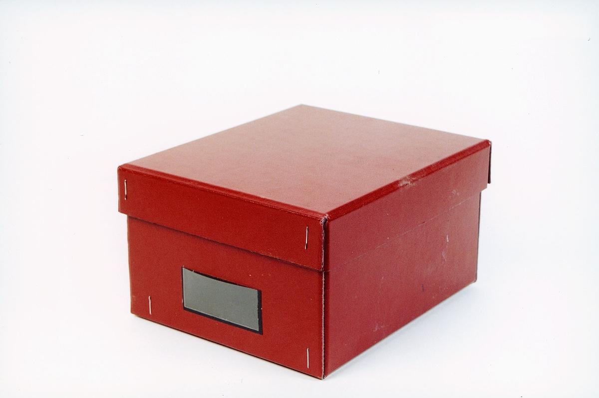 postmuseet, gjenstander, eske for adressekort og meldesedler
