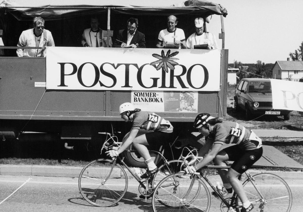 postgirokontoret, Postgiro Grand Prix, sykkelløp, 2 sykler, eksteriør