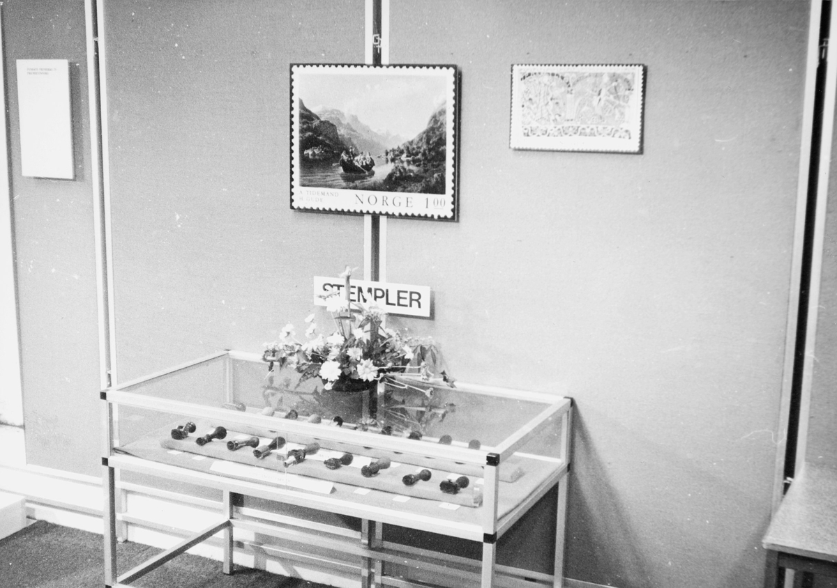 markedsseksjonen, nasjonal frimerkeutstilling, Filos 76, 8.-17. oktober, stempler i glassmonter, NK 729, norsk malerkunst I, NK 784, baldisholteppet