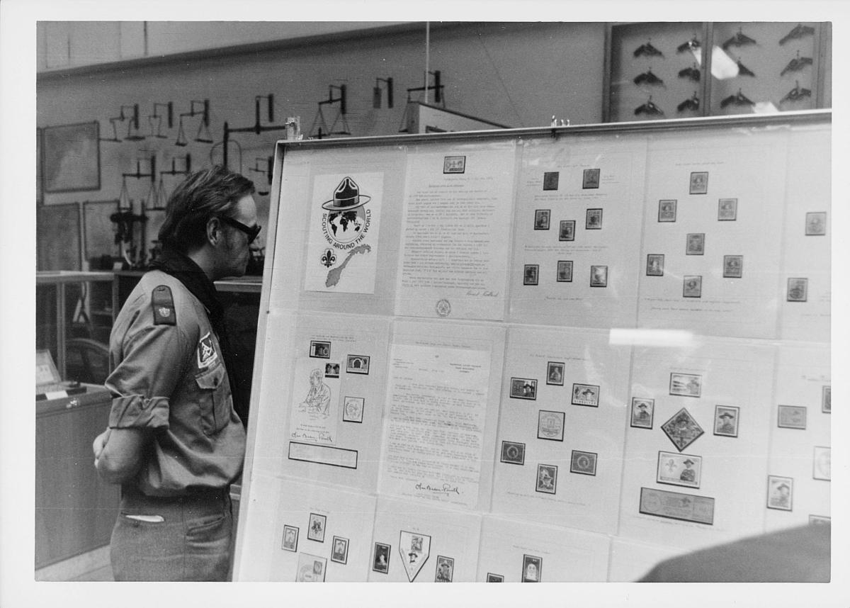 markedsseksjonen, filateli, scouting around the world, Postmuseet, 4. etasje, Dronningensgate 15
