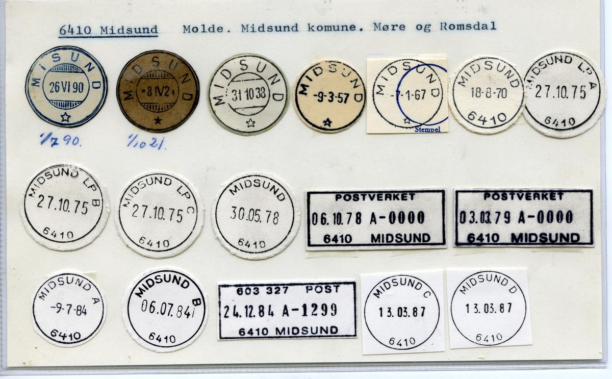 Stempelkatalog  6410 Midsund, Midsund kommune, Møre og Romsdal
