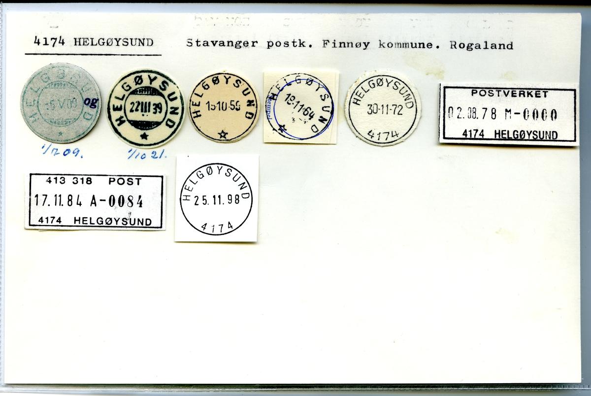Stempelkatalog 4174 Helgøysund, Stavanger, Finnøy, Rogaland
