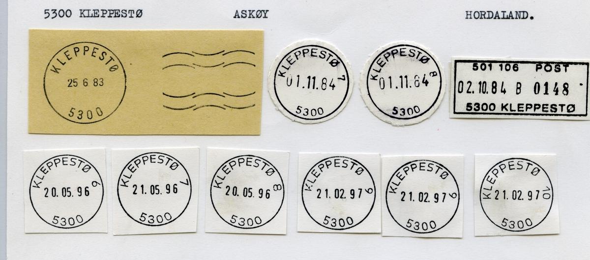 Stempelkatalog 5300 Kleppestø, Bergen, Askøy kommune, Hordaland