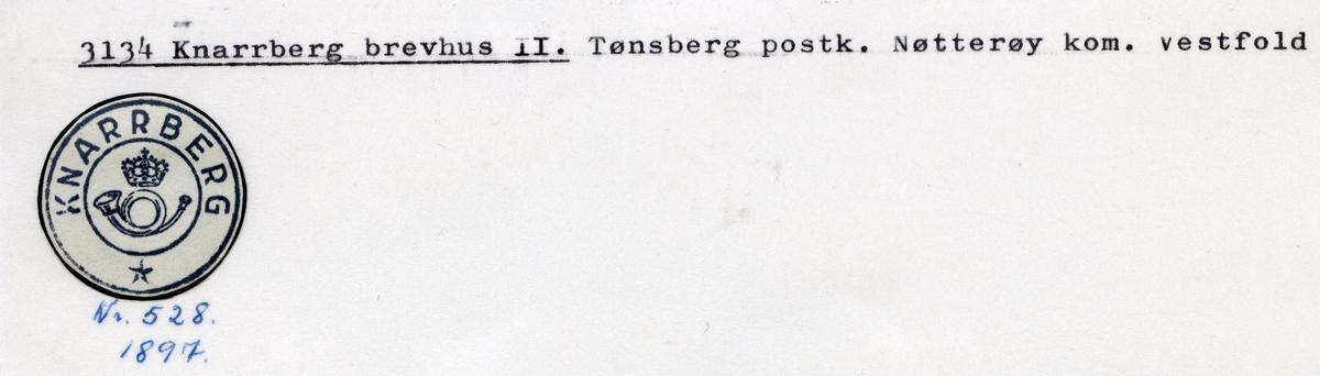 Stempelkatalog 3134 Knarrberg, Tønsberg, Nøtterøy, Vestfold