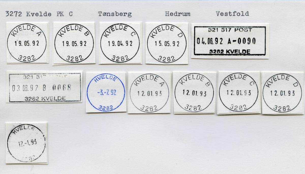 Stempelkatalog 8262 Kvarv i Salten (Kvarv), Fauske, Sørfold, Nordland