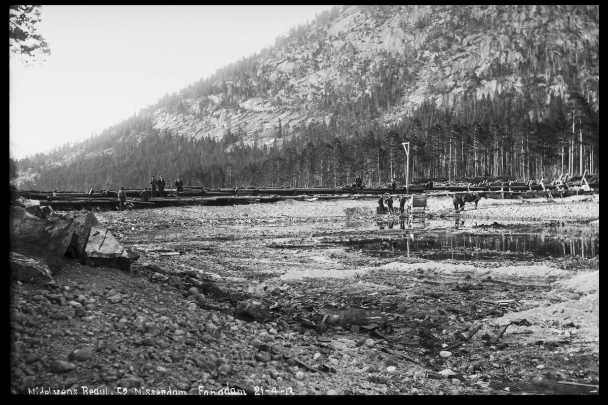 Arendal Fossekompani i begynnelsen av 1900-tallet CD merket 0565, Bilde: 48 Sted: Nisser Beskrivelse: Regulering