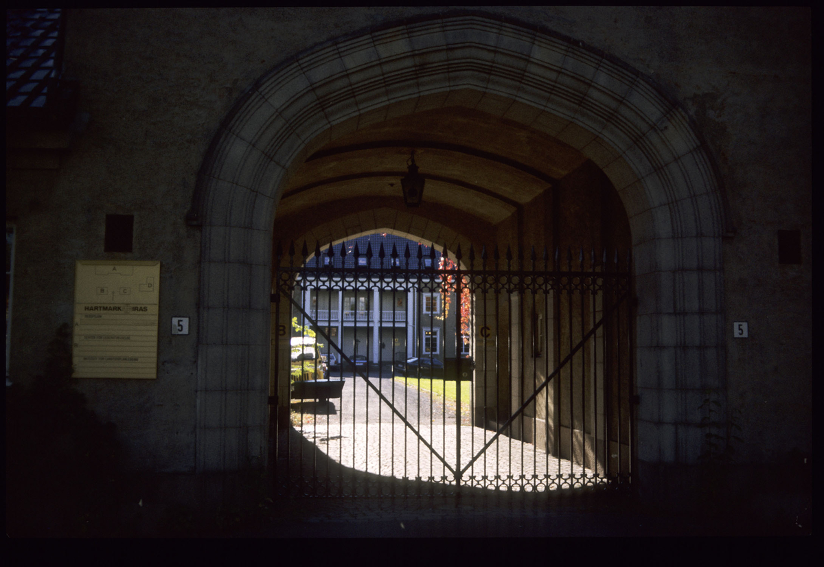Portal med smijernsdør på Lagåsen