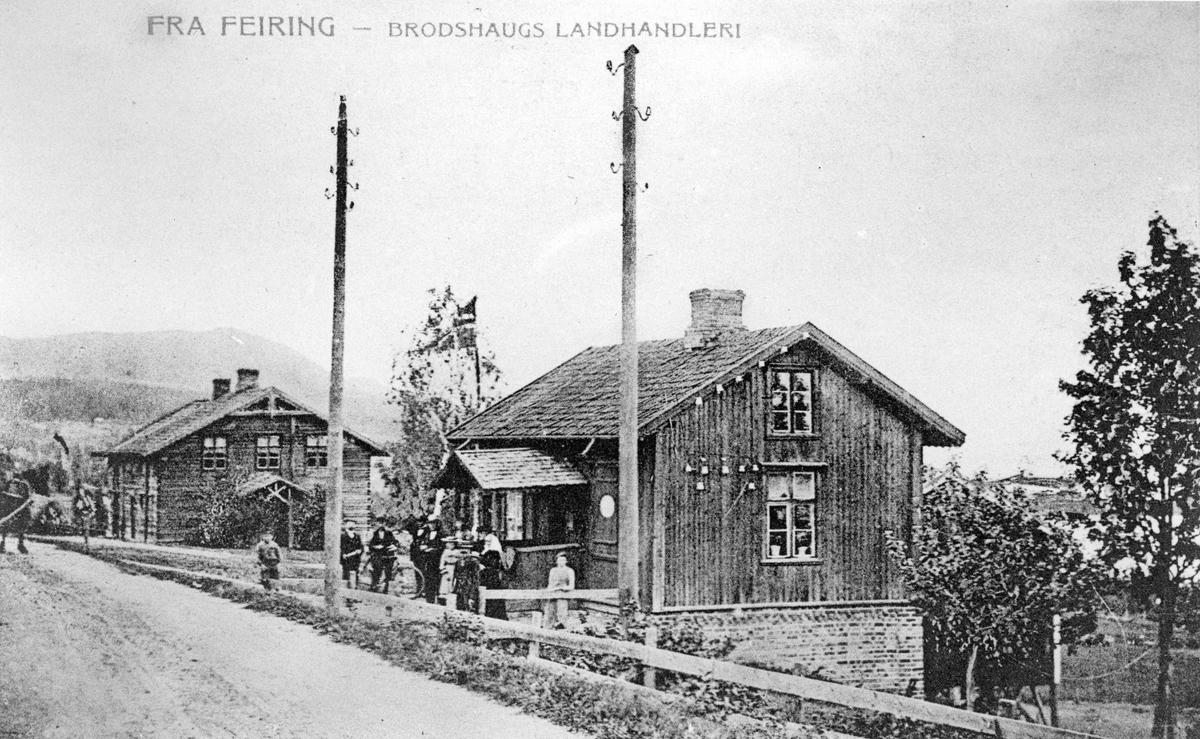 Fra Feiring. Brodshaug landhandleri.