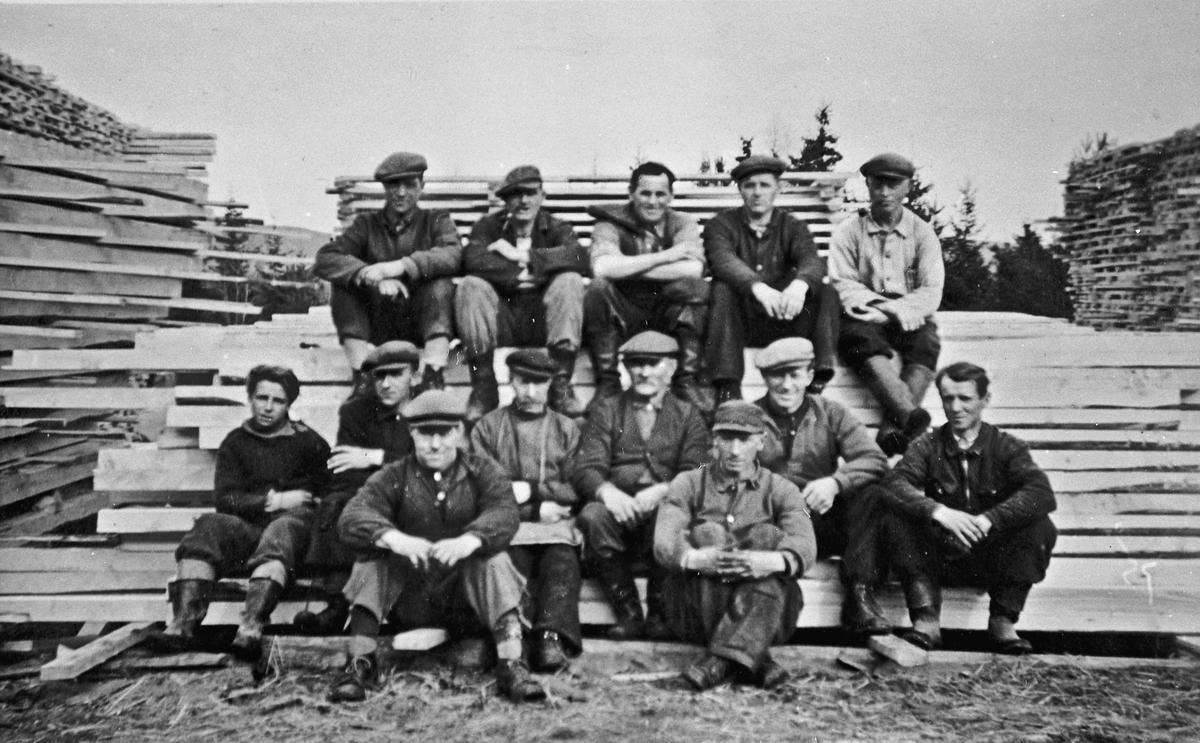 Sagmannskap i Aas skoglag/skurlag, 1945.