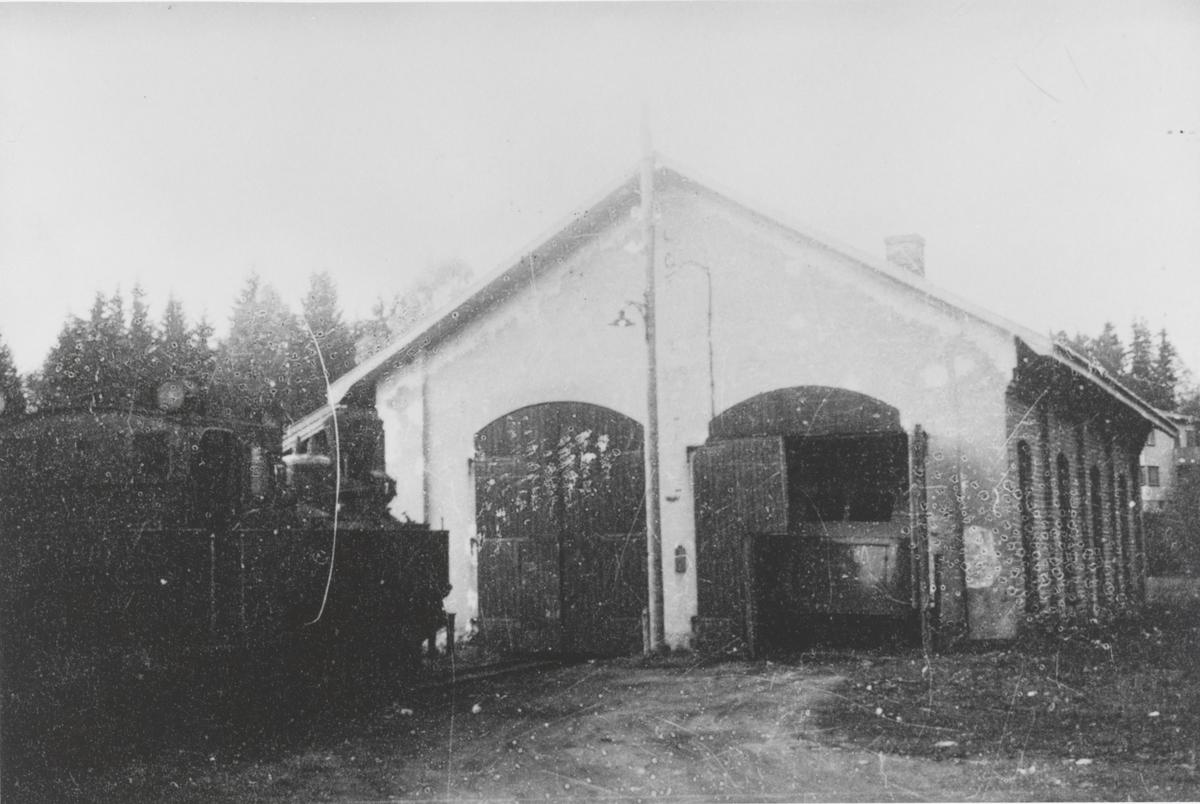 Lokomotivstallen på Skulerud