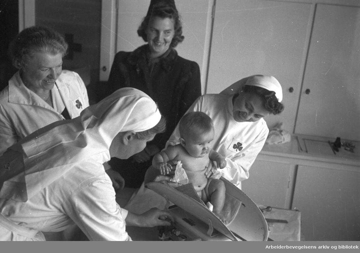Sinsen barnekontrollstasjon, .oktober 1946.