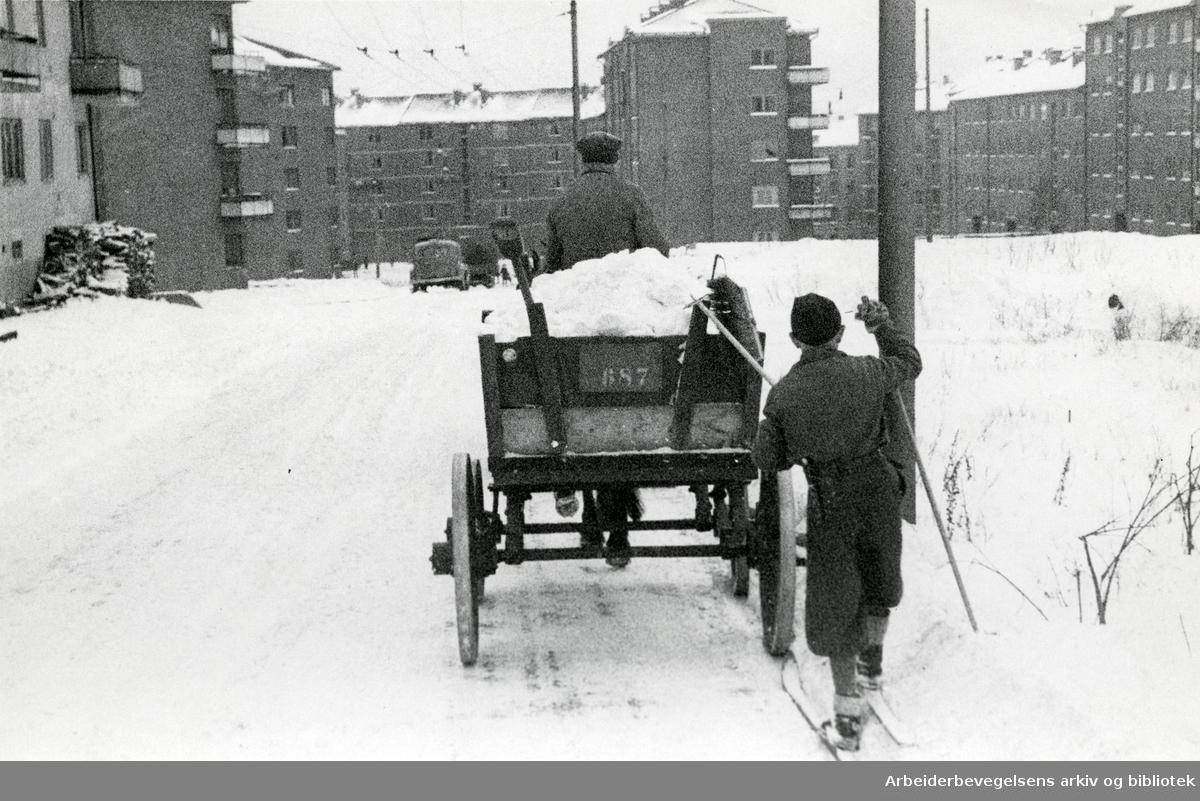 Snørydding,.1950-årene..