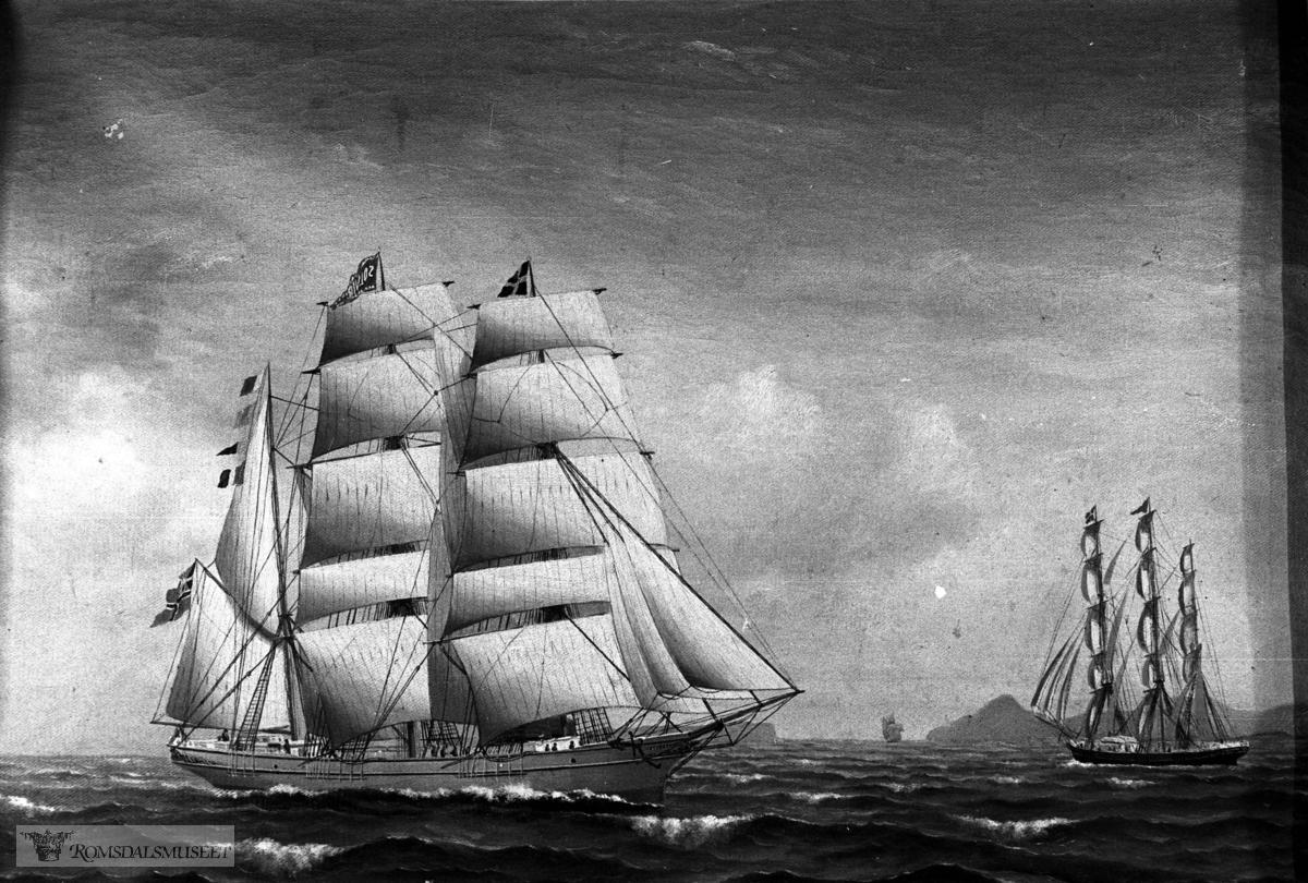 """""""Solveig"""" av Molde - skuteakvarell. R.1105"""
