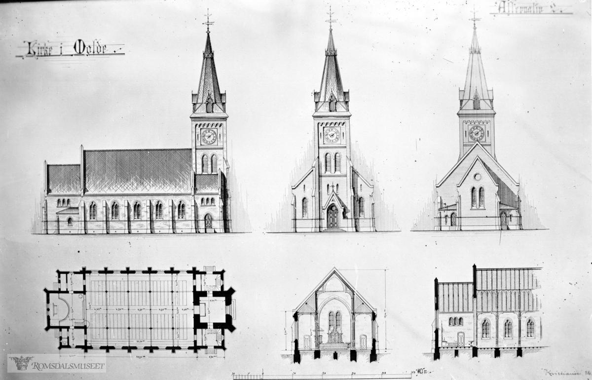 Molde kirke, Tegninger av Molde kirke.