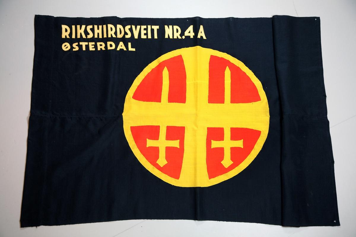 Hirdfane, Rikshirdfane NR. 4A, Østerdal.  Original.