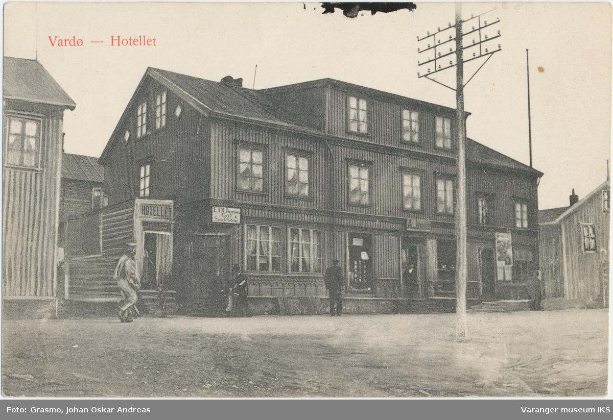 Postkort, Hotellet i Strandgata, ca. 1910