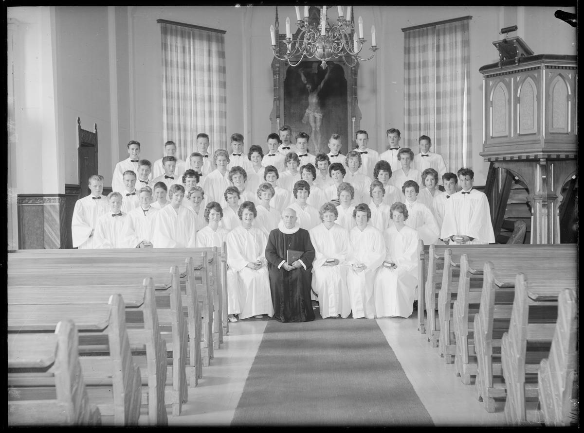 Konfirmanter i Ålen kirke 1961