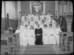 Konfirmanter i Haltdalen kirke 1961