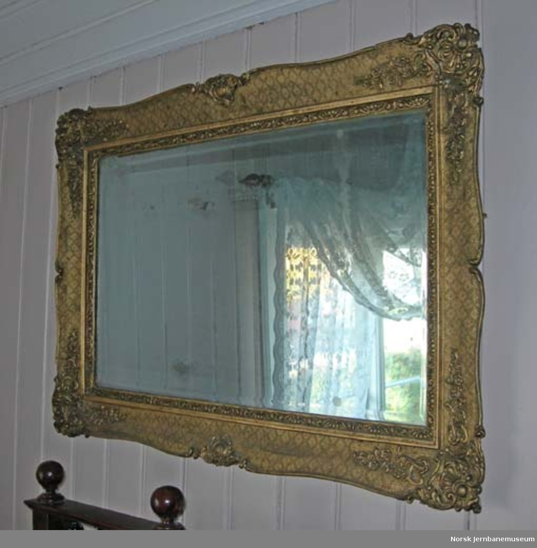 Speil : rektangulært med profilert ramme