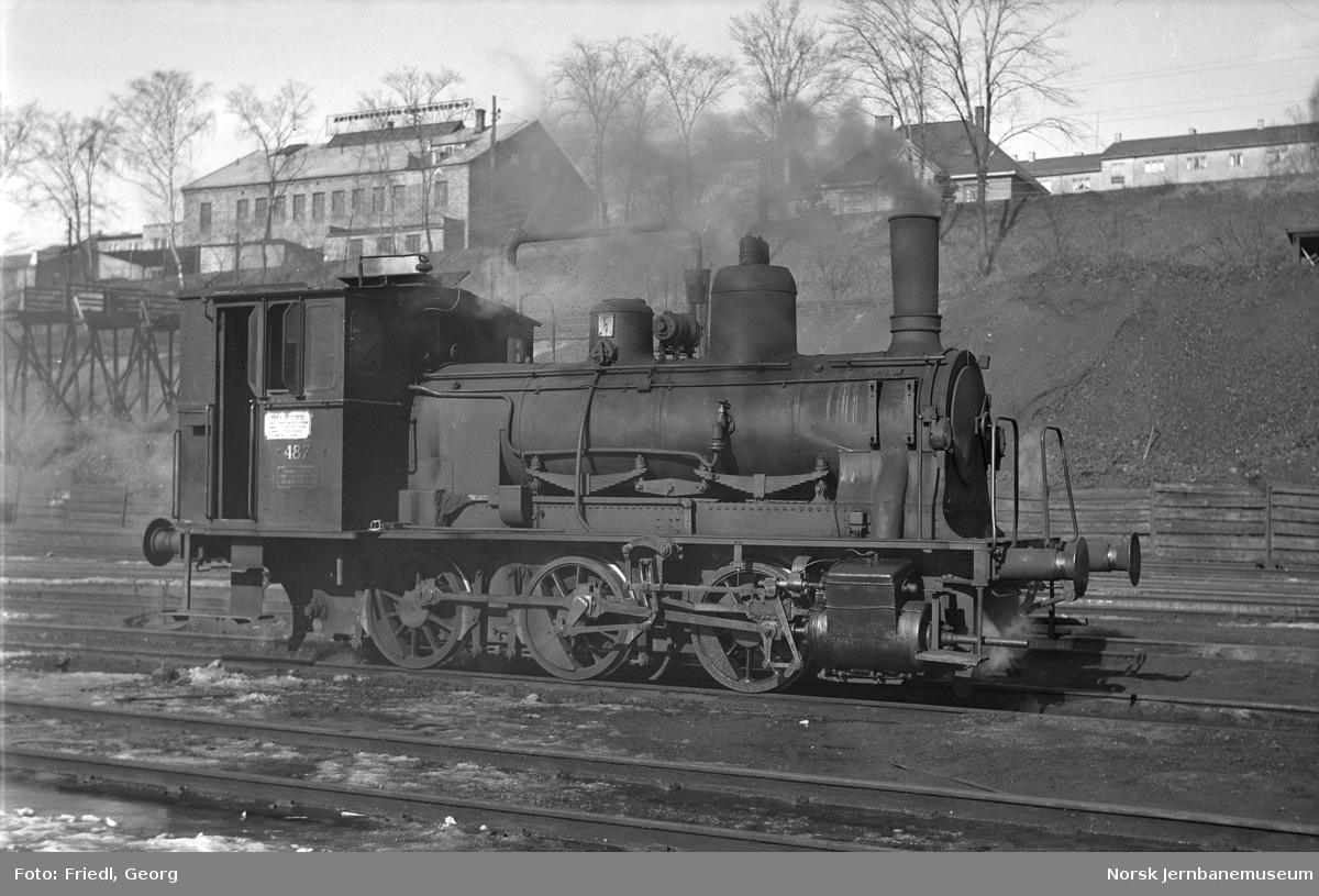 Damplokomotiv type 25e nr. 487 i Lodalen