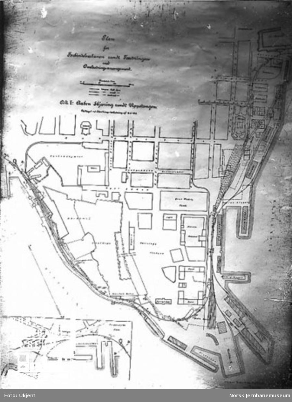 Plan for forbindelsesbanen rundt Festningen, alt. 1