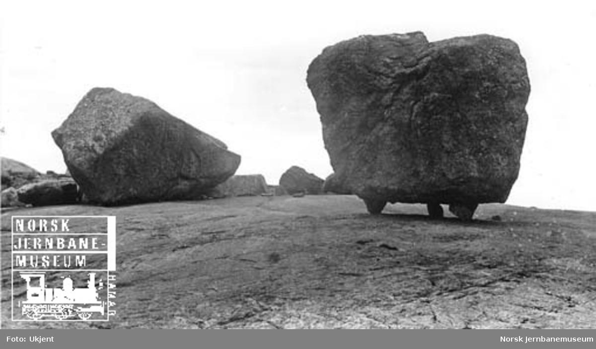 Vandreblokk (steinblokk) ved Vatnamot (?)