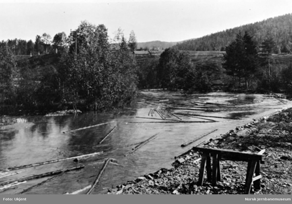 Brøtningen i Somma elv, høyre side av linjen