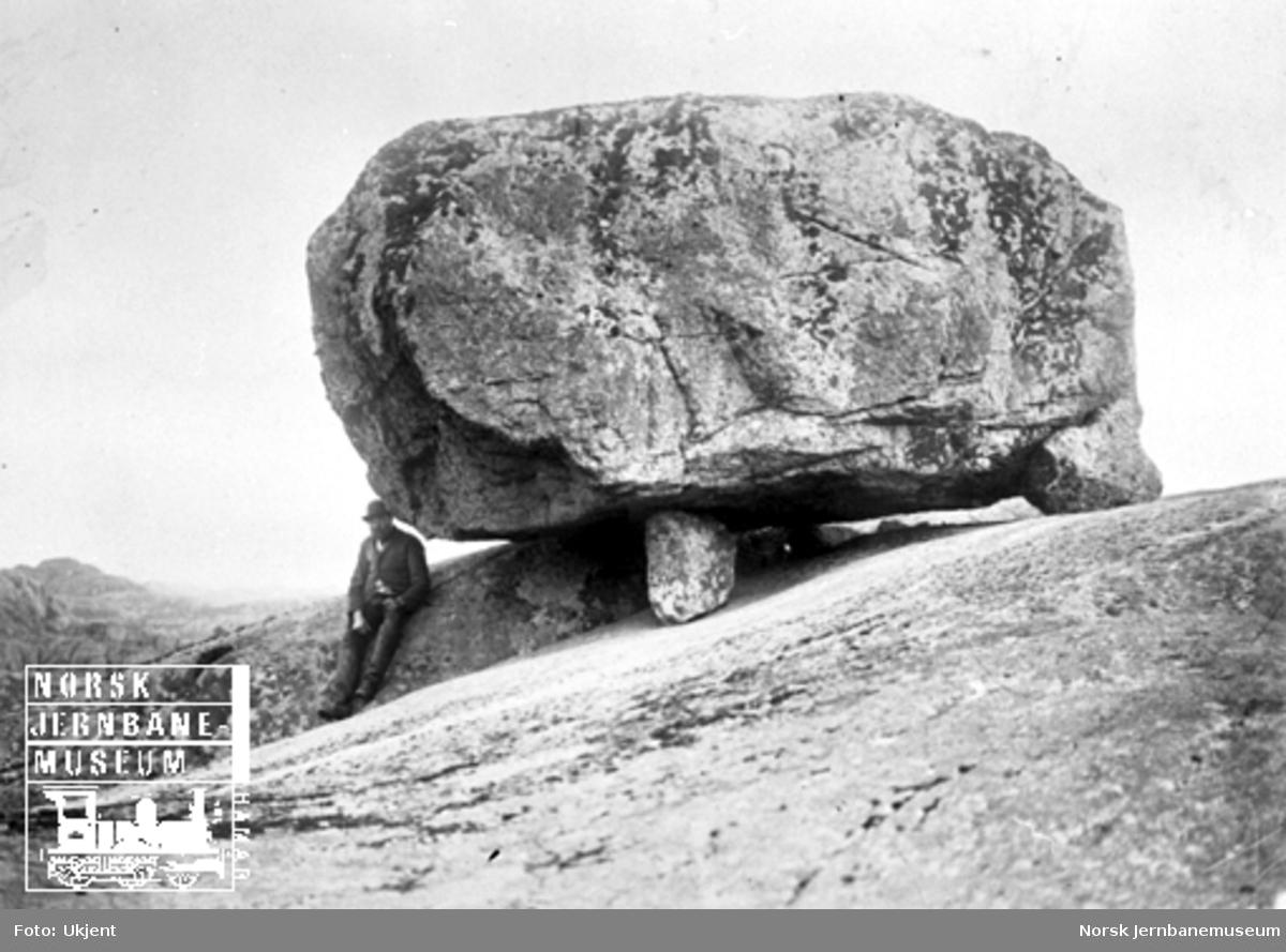 Vandreblokk (steinblokk) ved Vatnamot