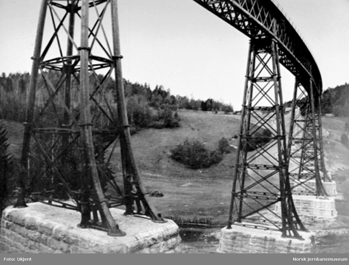 Ljansviadukten, nærbilde av pillarene