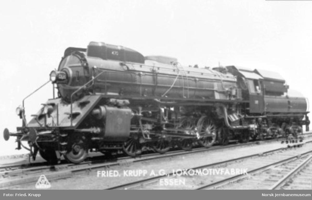 Leveransefoto av damplokomotiv type 49c nr. 470
