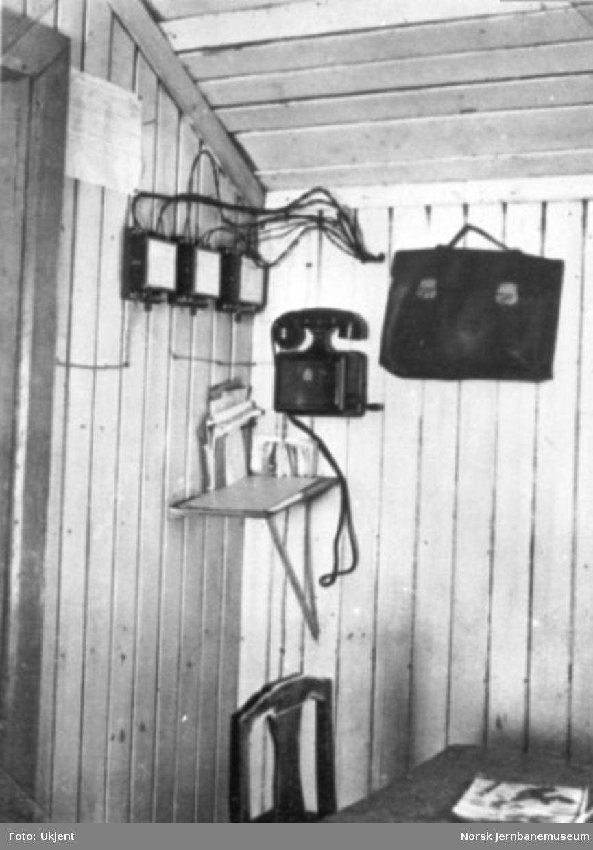 Inventar fra vokterbolig eller provisorisk stasjonsbygning