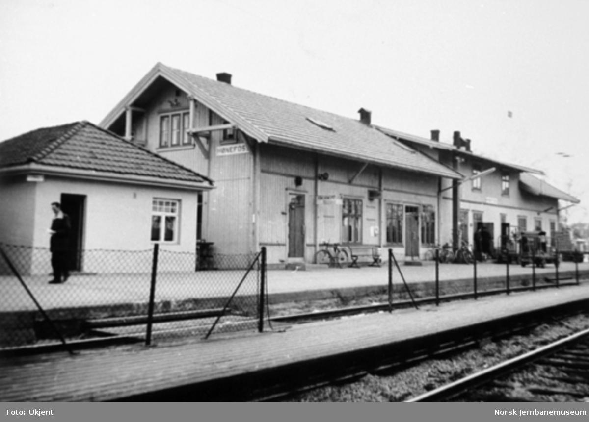 Den gamle stasjonsbygningen på Hønefoss