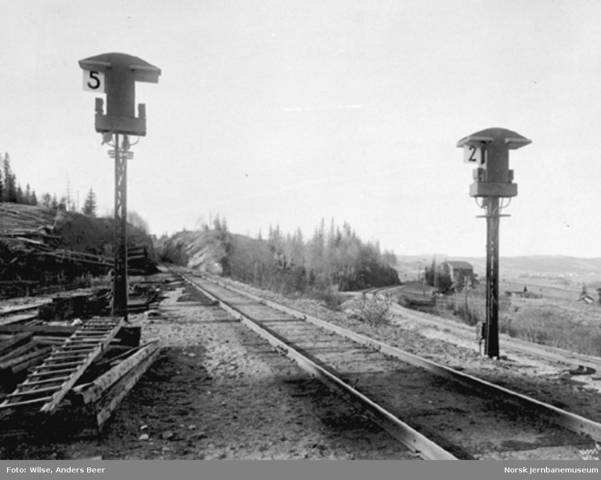 Spornummersignaler Roa stasjon