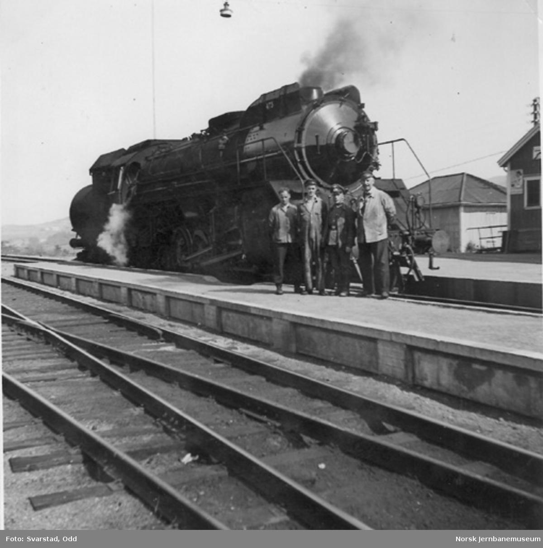 NSB damplokomotiv type 49c nr. 473, trolig på prøvetur