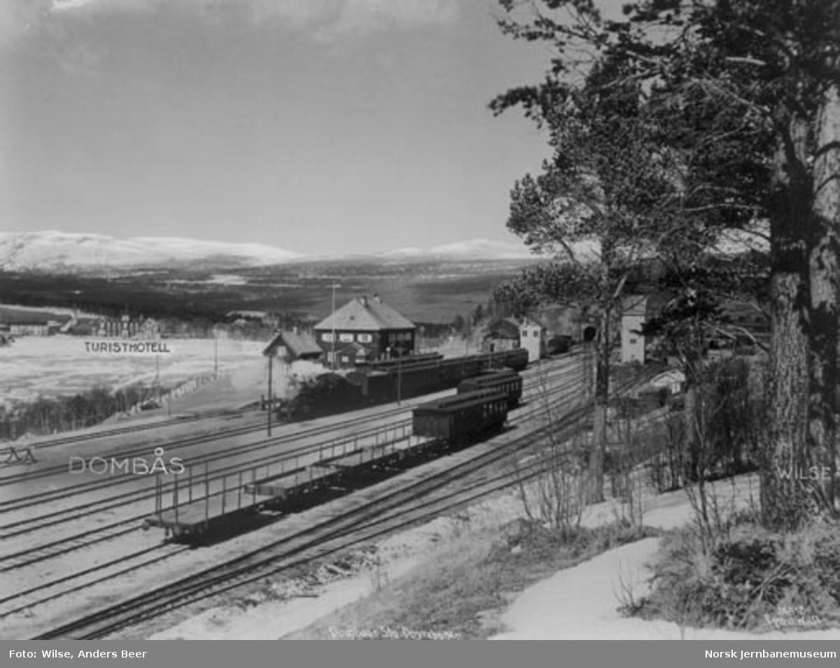 Dombås stasjon, fotografert fra sørøstsiden av stasjonstomten