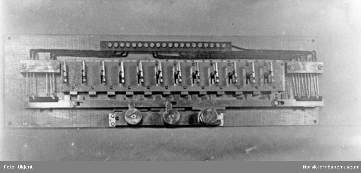 Stilleapparat i stillverk I, Halden stasjon