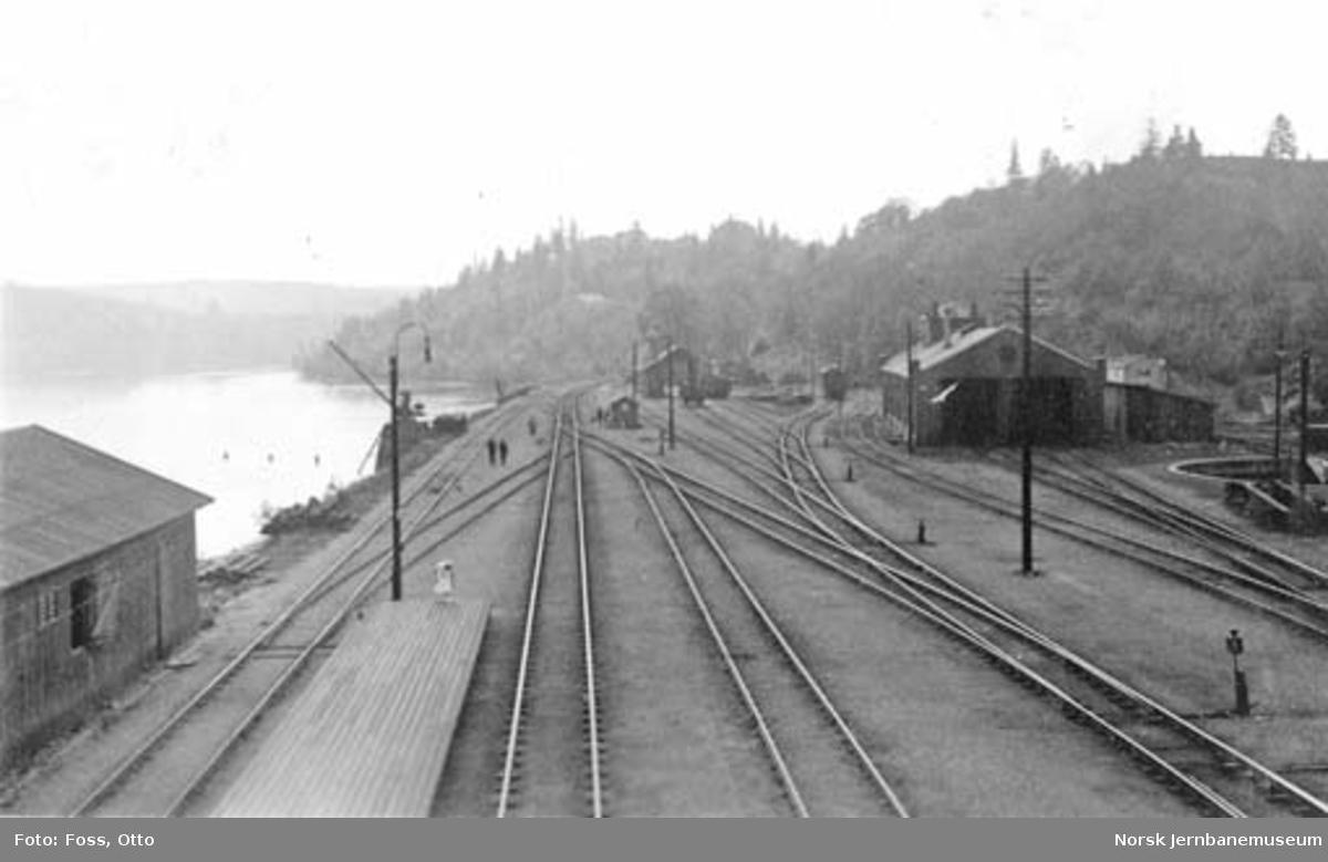 Eidsvoll stasjon sett fra vegovergangen