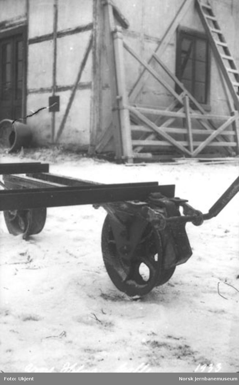Skinnetralle fra Arne Holms verksted, Levanger : anordning for bremse