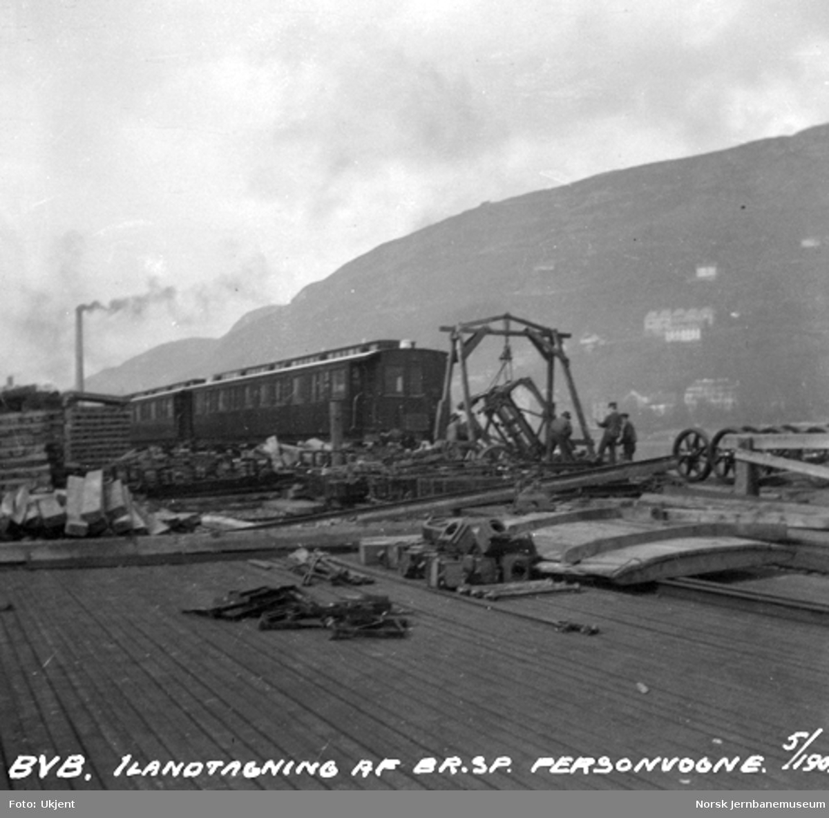 Ilandtaking av normalspormateriell til Bergensbanen : personvogner