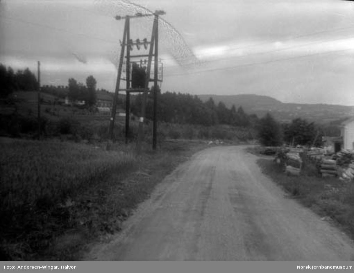 Lierbanens nedlagte trasé ved Egge stoppested