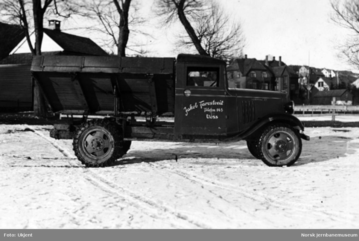 Chevrolet Six lastebil med treveistipp Spenborough-tipp til Jakob Farestveit, Voss