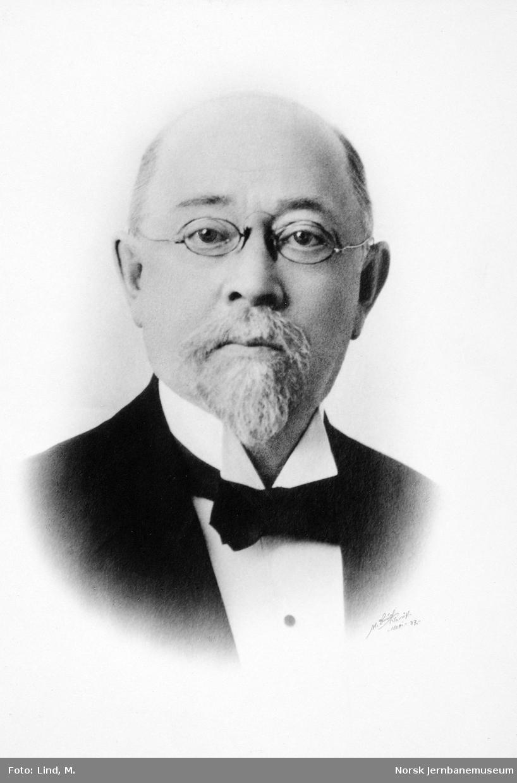 Portrett av distriktsjef Christen Mathisen