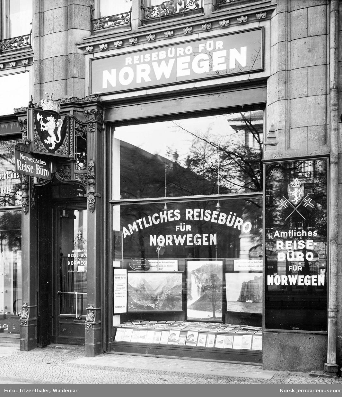 Inngangen til NSBs reisebyrå i Berlin