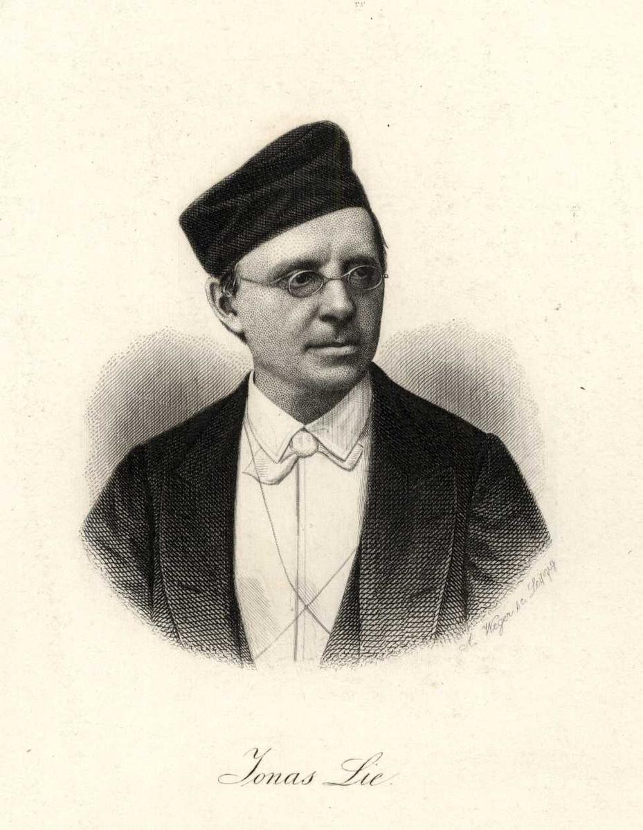 Portrett, brystbilde av Jonas Lie