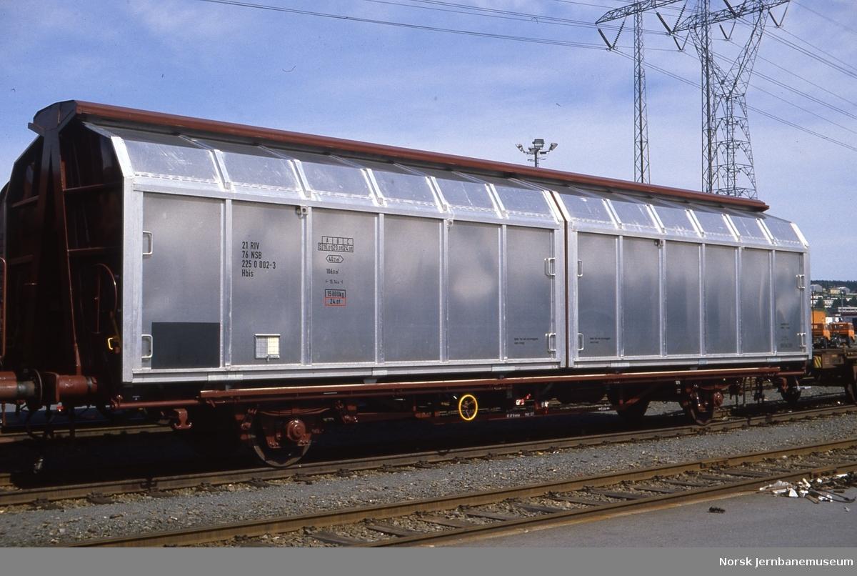 Ny godsvogn litra Hbiis nr. 225 0002