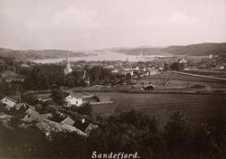 """Serie trykte prospekter fra bildeboken """"Bad Sandefjord og Ba"""